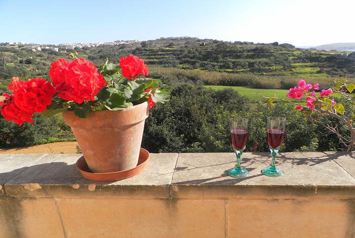 Gozo farmhouses with view