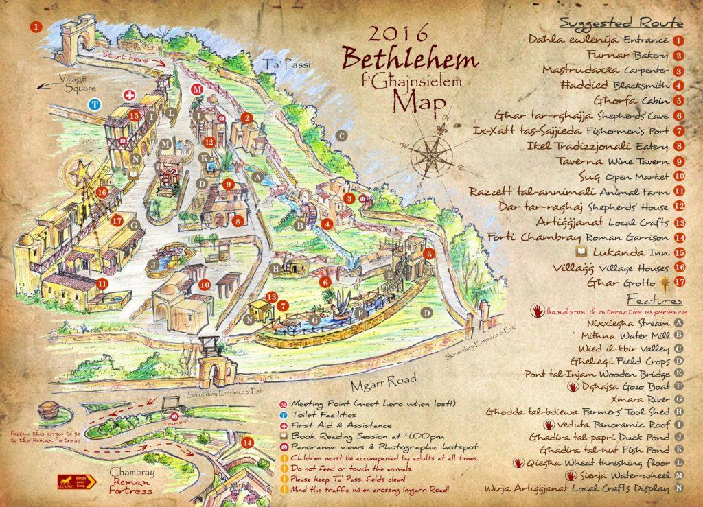 Bethlehem f'Ghajnsielem 2016 map