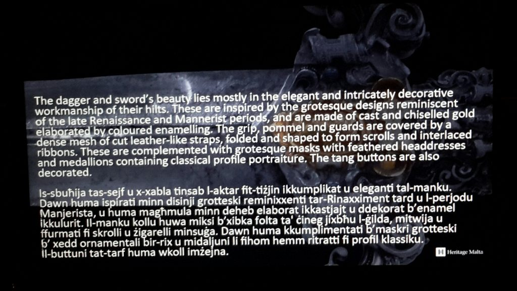 Info about de Valette's dagger