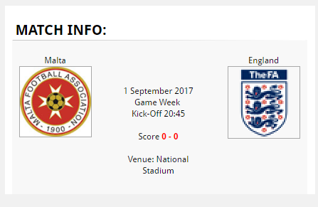 Malta England tickets