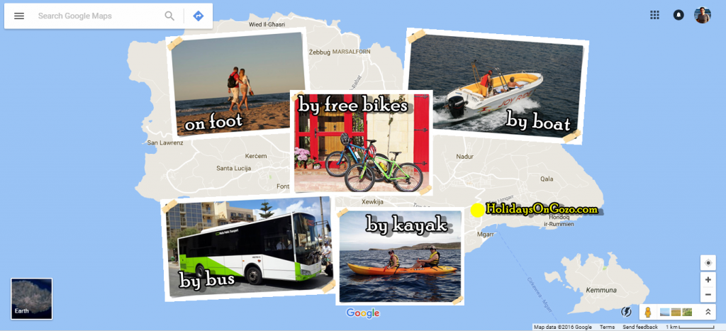 Gozo by bus, bike and boat