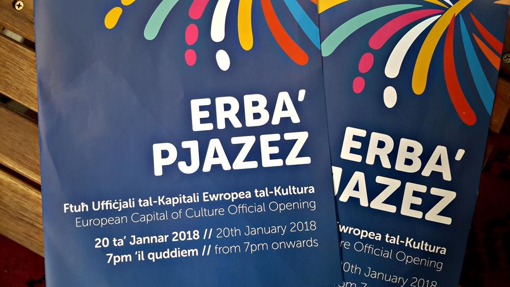 Valletta 2018 official opening