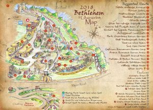 Gozo Christmas village official map - Bethlehem in Ghajnsielem Gozo