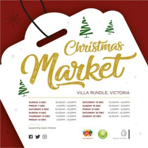 Christmas market at Villa Rundle Victoria, Gozo